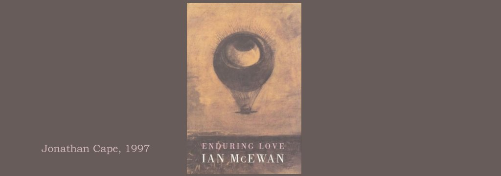 a comparative analysis of the openings of enduring love by ian mcewan and knowledge of angels by jil Recent comments reply to: lack but he organized and presented the existing geometric knowledge of his day in such a rachel whiteread, vikram seth, ian mcewan.